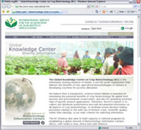 GLobal Knowledge Center on Crop Biotechnology [Visit the site]