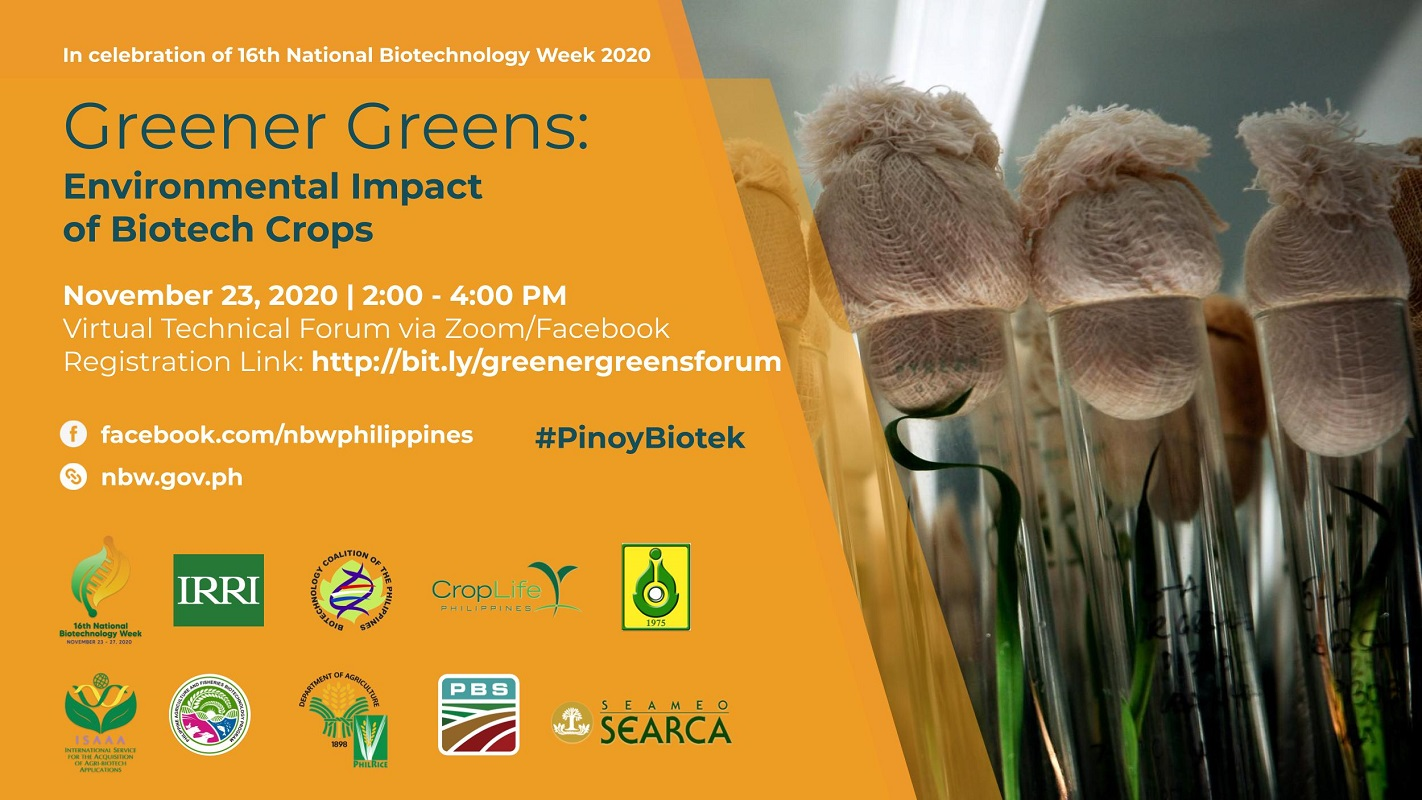 National Biotech Week Holds Technical Forum on Environmental Impact of GM Crops