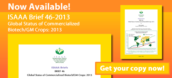 ISAAA Brief 44-2012 Now Available! Get Your Copy Now!