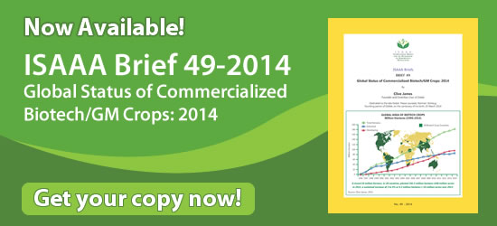 ISAAA Brief 49-2014 Now Available! Get Your Copy Now!