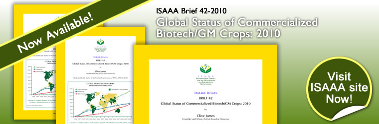 ISAAA Brief 42-2010 Now Available!